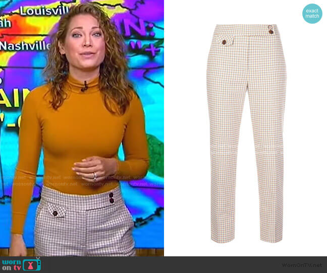 Renzo Pant by Veronica Beard worn by Ginger Zee  on Good Morning America
