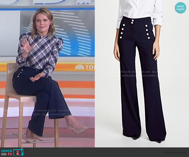 Adley Pants by Veronica Beard worn by Savannah Guthrie  on Today
