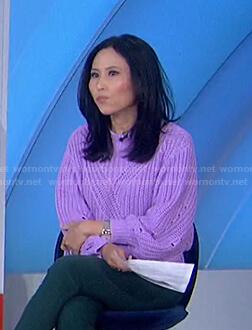 Vicky Nguyen's lilac knit sweater on Today