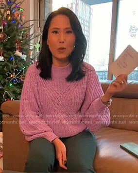 Vicky Nguyen's lilac knit sweater on Today