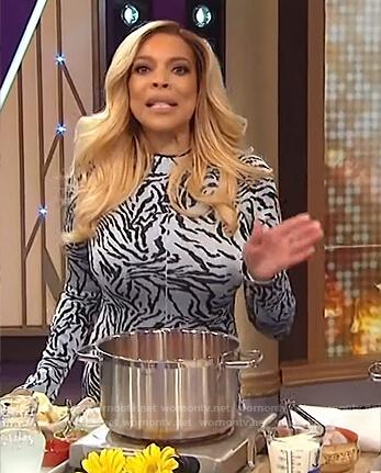 Wendy's zebra stripe dress on The Wendy Williams Show