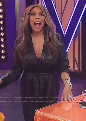 Wendy's leather jumpsuit on The Wendy Williams Show