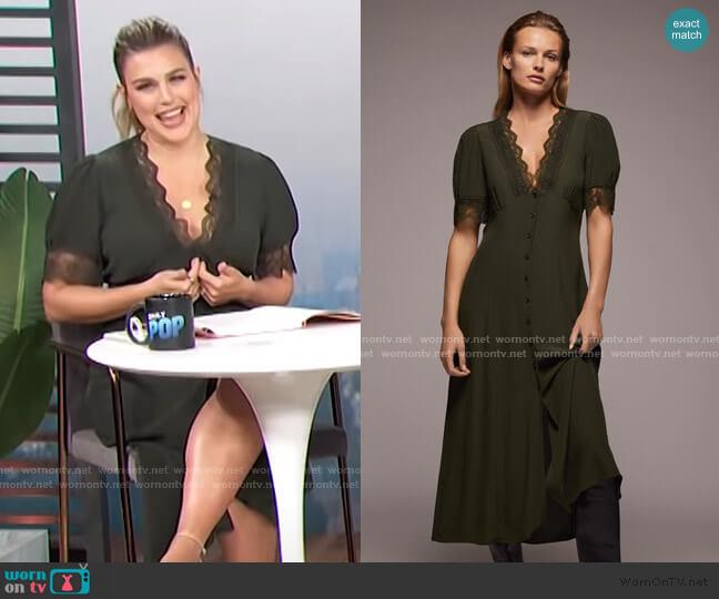 Lace Midi Dress by Zara worn by Carissa Loethen Culiner  on E! News