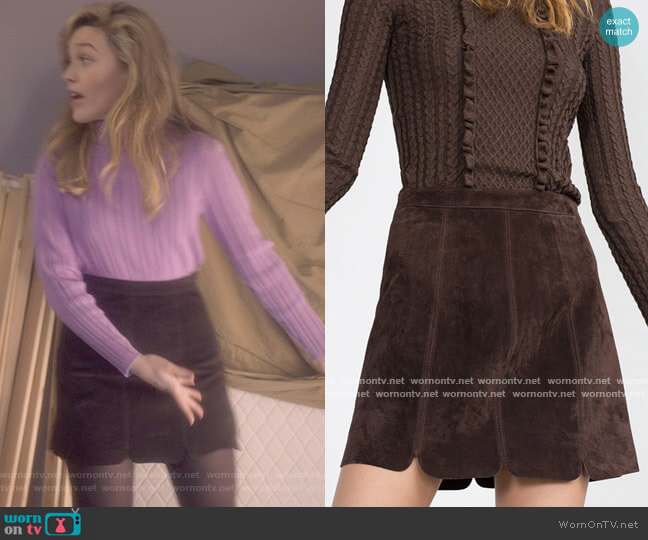 Zara Leather Skirt worn by Danielle Clayton (Victoria Pedretti) on The Haunting of Bly Manor