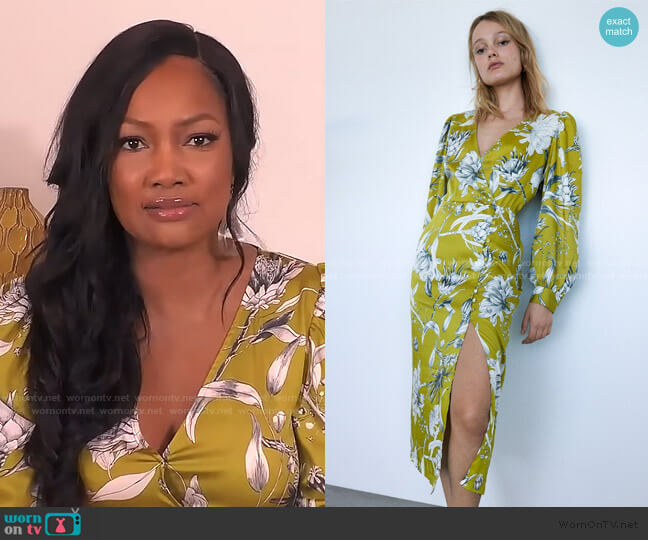 Printed Midi Dress by Zara worn by Garcelle Beauvais  on The Real