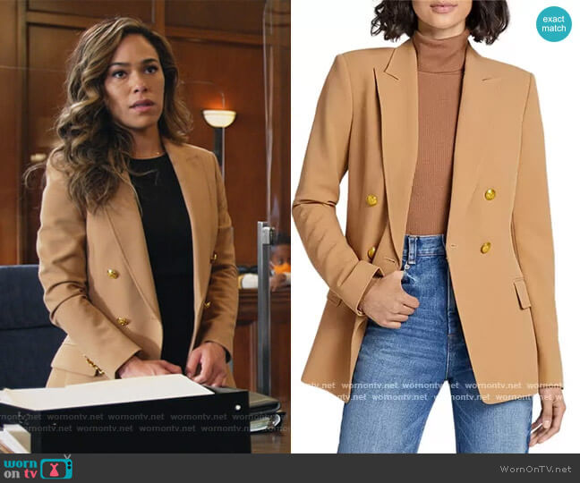Sedgwick II Double-Breasted Blazer by A.L.C. worn by Emily Lopez (Jessica Camacho) on All Rise
