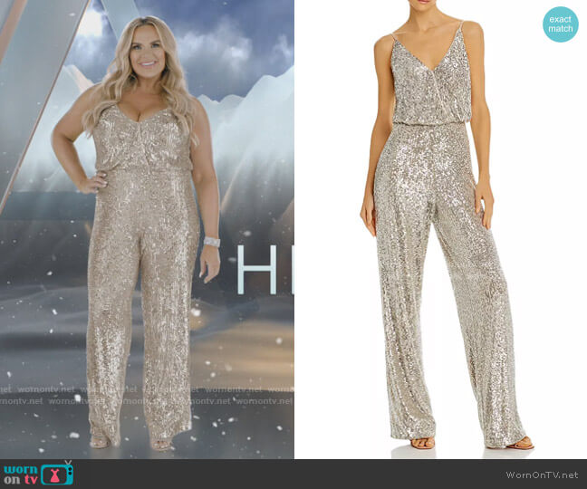 Sequined Wide-Leg Jumpsuit by Aidan by Aidan Mattox worn by Heather Gay  on The Real Housewives of Salt Lake City