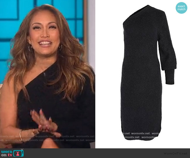 Motocyclette One Shoulder Dress by Aje worn by Carrie Inaba  on The Talk
