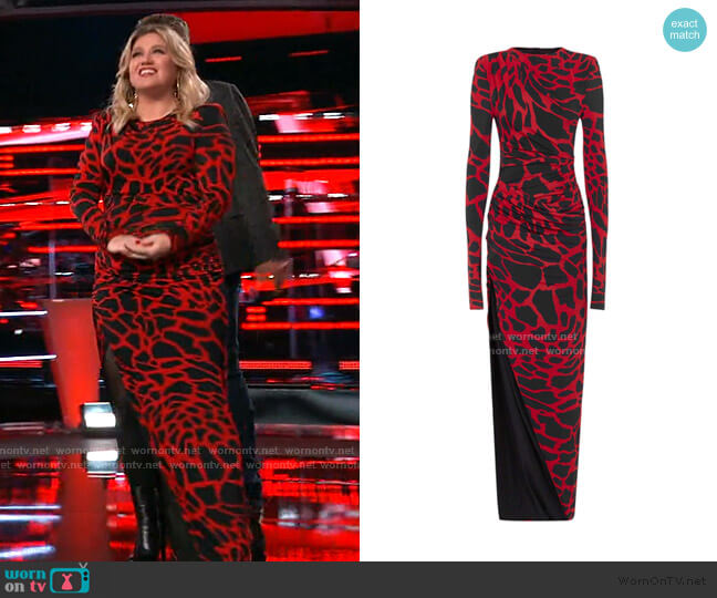 Long Dress by Alexandre Vauthier worn by Kelly Clarkson  on The Voice