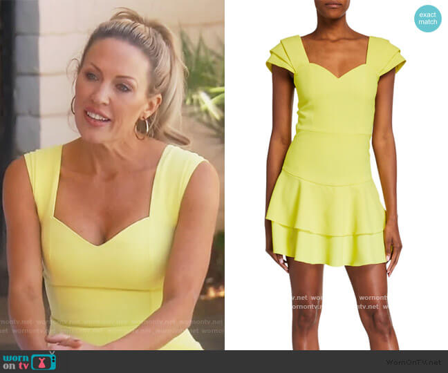 Brinda Double Ruffle Fit Flare Dress by Alice + Olivia worn by Braunwyn Windham-Burke  on The Real Housewives of Orange County