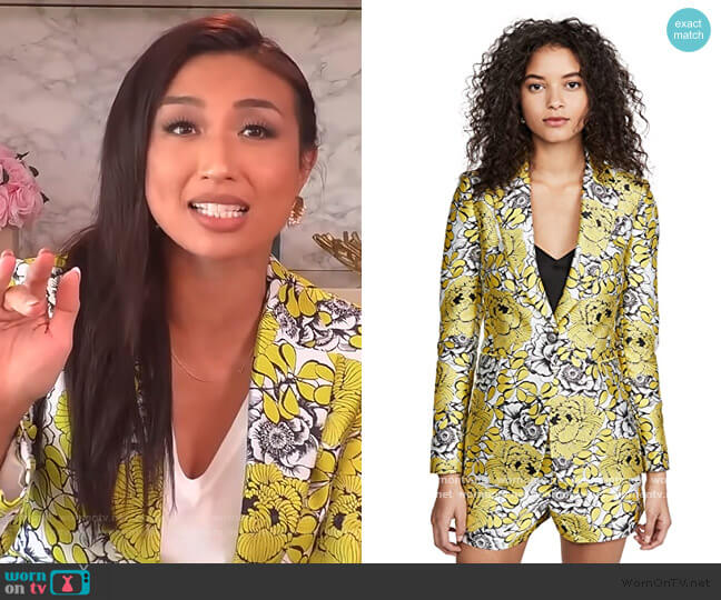 Macey Notch Collar Fitted Blazer by Alice + Olivia worn by Jeannie Mai  on The Real