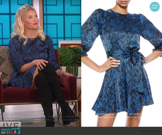 Mina Puff-Sleeve Dress by Alice + Olivia worn by Amanda Kloots on The Talk worn by Amanda Kloots  on The Talk