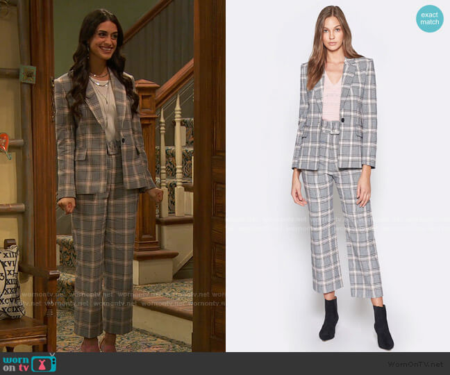 Anilah Cotton Blazer and Isami Pants by Joie worn by Mona Mira on Ravens Home