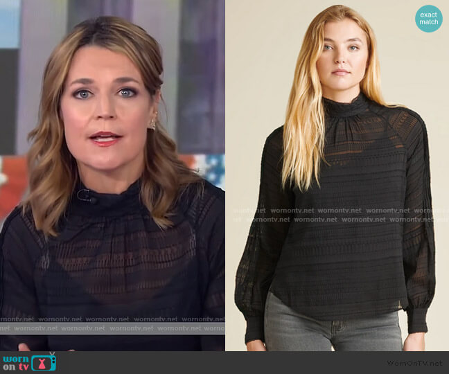 Aniya Blouse by Veronica Beard worn by Savannah Guthrie  on Today