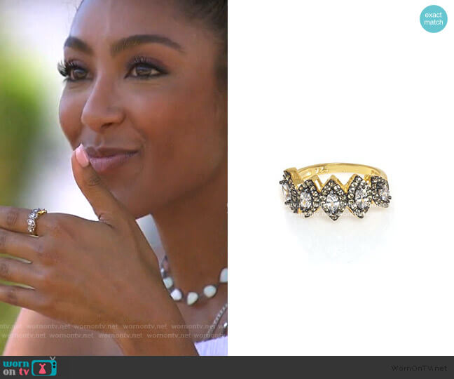 5 Crown Ring by Anuja Tolia Jewelry worn by Tayshia Adams  on The Bachelorette