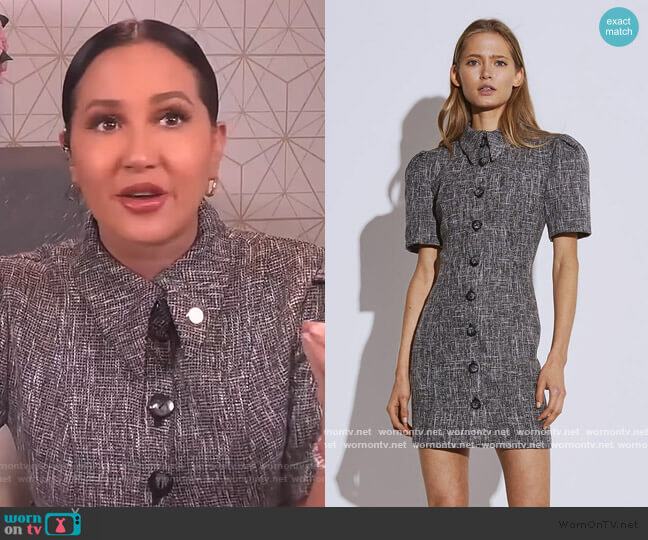 Prophecy Dress by C/Meo Collective worn by Adrienne Houghton  on The Real