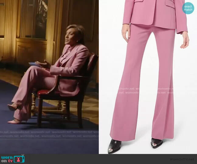 Charlie Stretch Pebble Crepe Flared Pants by Michael Kors worn by Robin Roberts  on Good Morning America