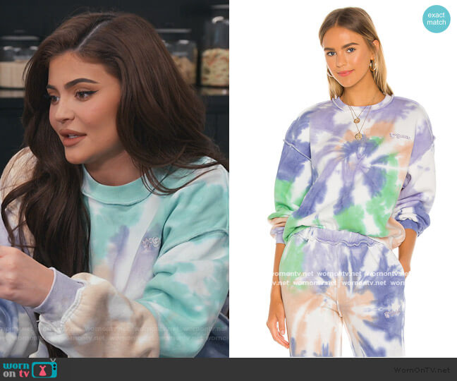 Exposed Seam Fleece Crewneck and Sweatpants by Danielle Guizio worn by Kylie Jenner  on Keeping Up with the Kardashians