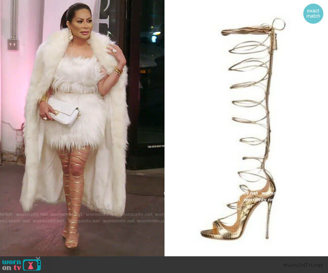 Lace-Up Sandals by Dsquared2 worn by Jen Shah  on The Real Housewives of Salt Lake City