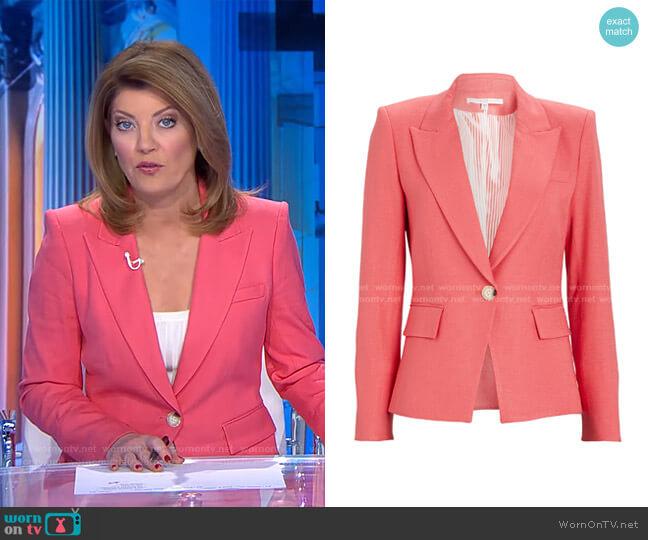 Danielle Dickey Blazer by Veronica Beard  worn by Norah O'Donnell  on CBS Evening News