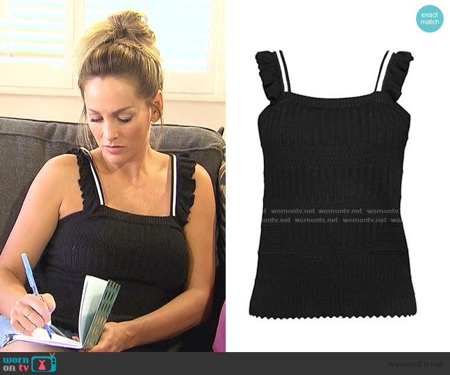 Ruffled Knit Tank Top by Design History worn by Clare Crawley  on The Bachelorette