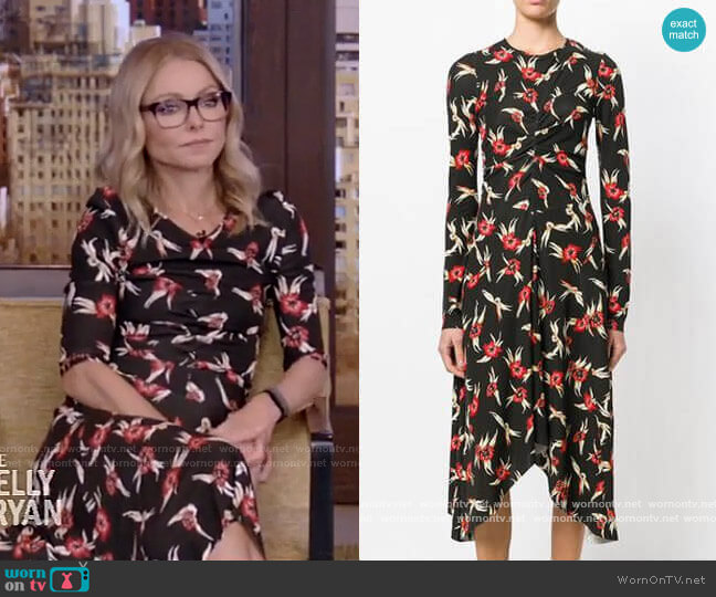 Diana Dress by Isabel Marant worn by Kelly Ripa  on Live with Kelly & Ryan