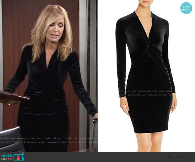 Cynthia Velvet Knot-Front Dress by Elie Tahari worn by Lauren Fenmore (Tracey Bregman) on The Young & the Restless
