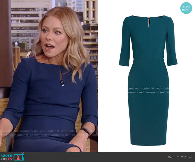 Etty Dress by Roland Mouret worn by Kelly Ripa  on Live with Kelly & Ryan