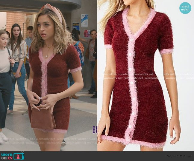 Fuzzy Sweater Dress by Forever 21 worn by Lexi (Josie Totah) on Saved By The Bell