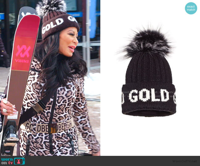 Hodd Fur Beanie by Goldbergh worn by Jen Shah  on The Real Housewives of Salt Lake City