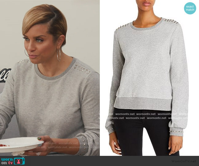 Dawson Studded Sweatshirt by Generation Love worn by Robyn Dixon  on The Real Housewives of Potomac