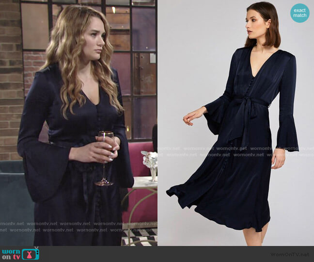 Annabelle Dress by Ghost London worn by Summer Newman (Hunter King) on The Young & the Restless