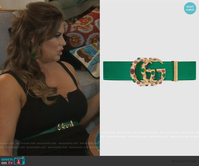 Gucci Jewell Embellished Belt by Gucci worn by Emily Simpson  on The Real Housewives of Orange County