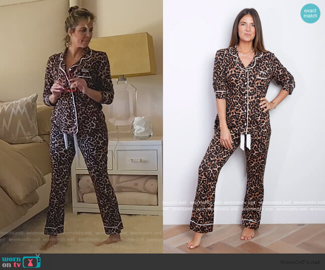 Sleep Jersey Pyjama Set in Leopard by HA Designs worn by Khloe Kardashian  on Keeping Up with the Kardashians