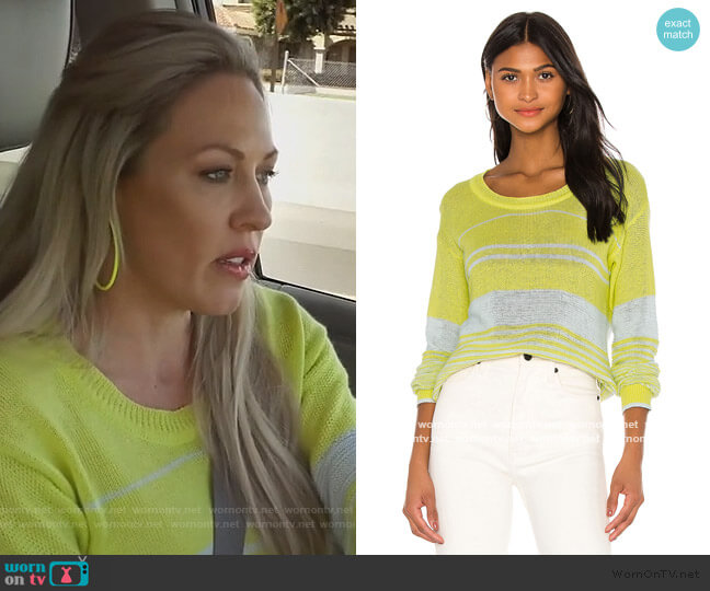 Haven Sweater by Heartloom worn by Braunwyn Windham-Burke  on The Real Housewives of Orange County