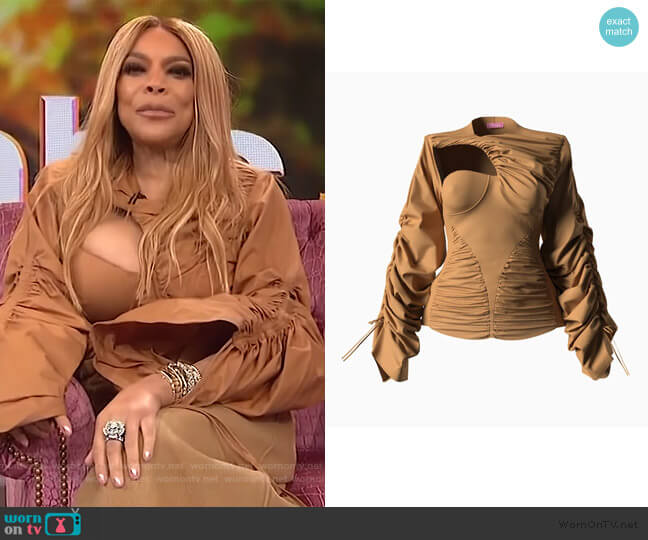 Veronique Blouse by Hanifa worn by Wendy Williams  on The Wendy Williams Show