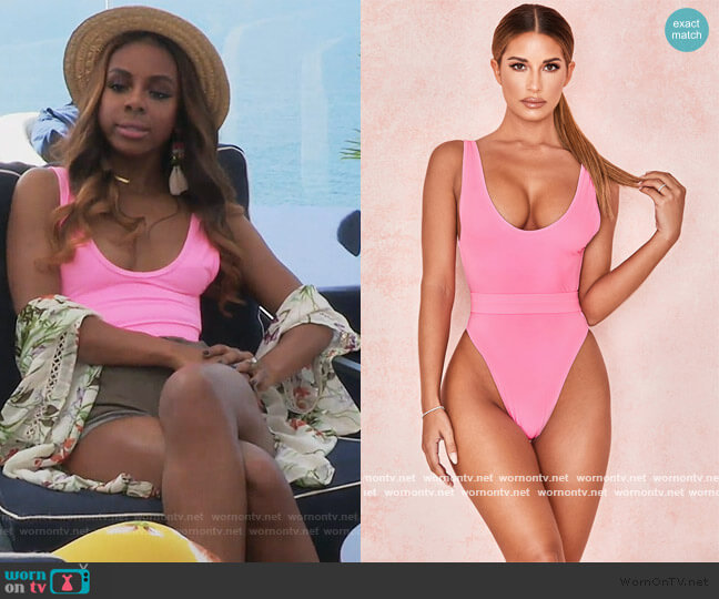 Wayfarer Swimsuit by House of CB worn by Candiace Dillard Bassett  on The Real Housewives of Potomac