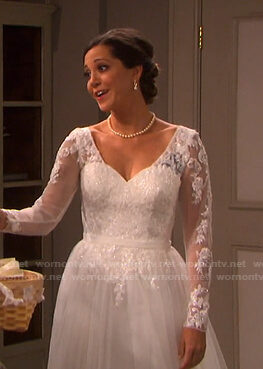 Jan's wedding dress on Days of our Lives