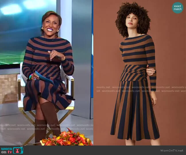 Knitted Camelot Dress by The Fold London worn by Robin Roberts  on Good Morning America