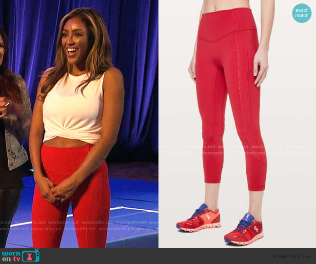 All The Right Places Crop II by Lulu Lemon worn by Tayshia Adams  on The Bachelorette
