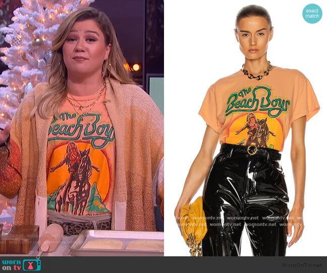 Beach Boys Tee by Madeworn worn by Kelly Clarkson  on The Kelly Clarkson Show