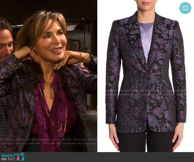 Madison Jacquard Blazer by Elie Tahari worn by Kate Roberts (Lauren Koslow) on Days of our Lives