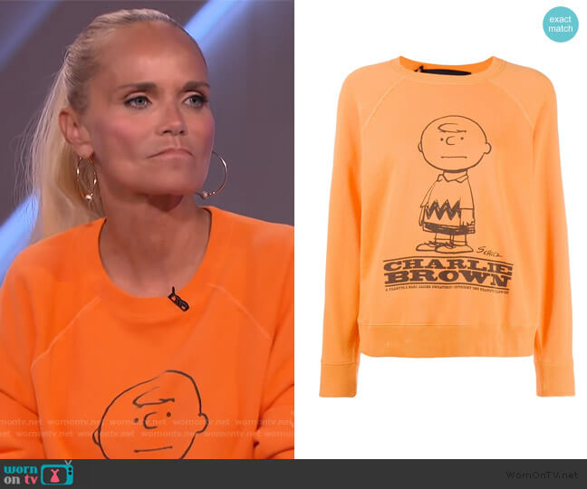 Peanuts Sweater by Marc Jacobs worn by Kristin Chenoweth on The Kelly Clarkson Show