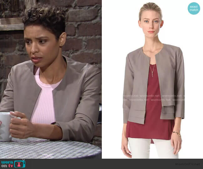 Merril Leather Jacket by Joie worn by Elena Dawson (Brytni Sarpy) on The Young & the Restless