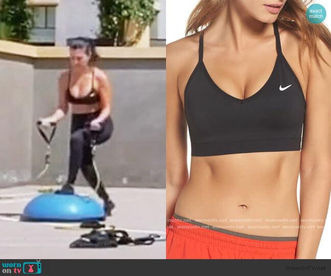 Indy Sports Bra by Nike worn by Kourtney Kardashian  on Keeping Up with the Kardashians