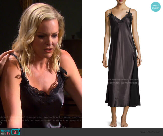 Tying The Knot Satin Nightgown by Oscar de la Renta worn by Belle Brady (Martha Madison) on Days of our Lives