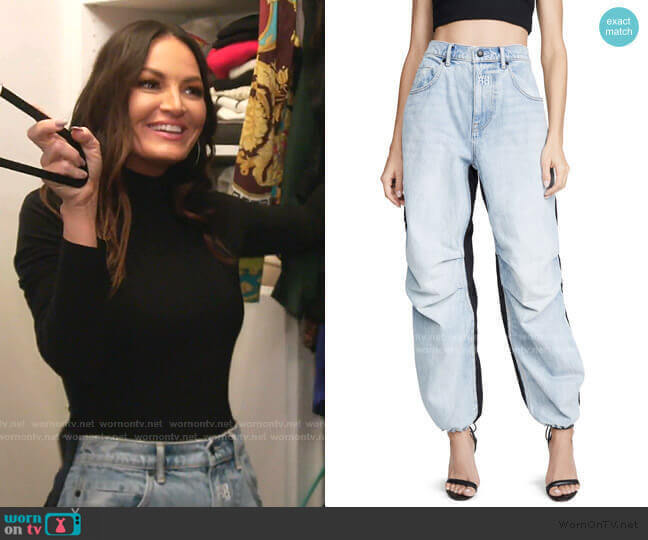 Pack Mix Pants by Denim x Alexander Wang worn by Lisa Barlow  on The Real Housewives of Salt Lake City