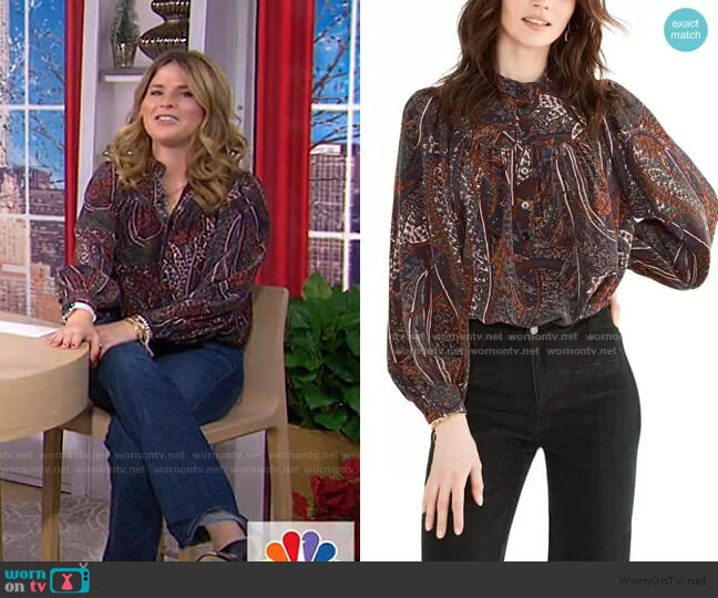 Pamina Abstract Blouse by Vanessa Bruno worn by Jenna Bush Hager  on Today