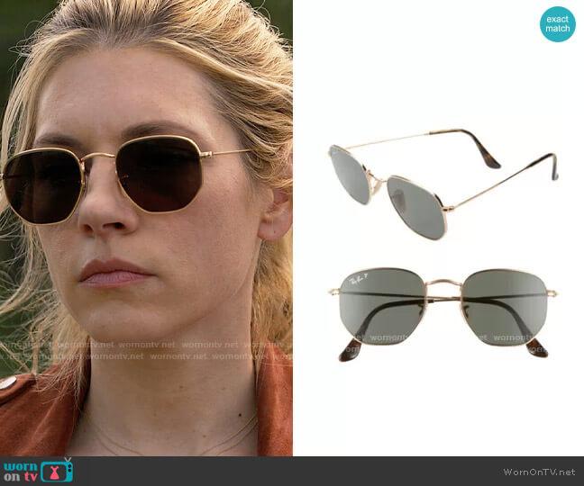 Ray Ban 51mm Geometric Sunglasses worn by Jenny Hoyt (Katheryn Winnick) on Big Sky