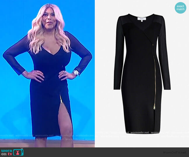 Valencia zipped bodycon dress by Reiss worn by Wendy Williams  on The Wendy Williams Show